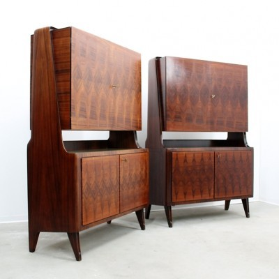 Set of 2 cabinets from the forties by unknown designer for La Permanente Mobili Cantù