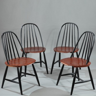 Set of 4 dinner chairs from the fifties by unknown designer for Hagafors