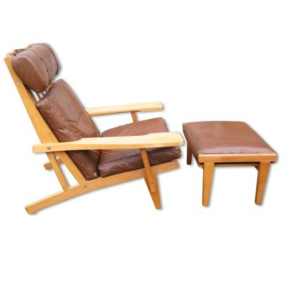 GE 375 + GE 370S arm chair from the sixties by Hans Wegner for Getama