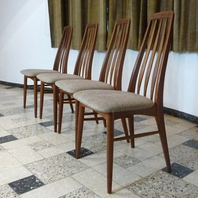 Set of 4 Eva dinner chairs from the sixties by Ib Kofod Larsen for Kofoed Møbelfabrik