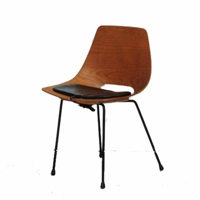 Tonneau dining chair by Pierre Guariche for Steiner, 1950s