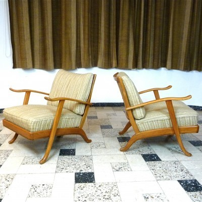 Set of 2 lounge chairs from the sixties by unknown designer for Wilhelm Knoll