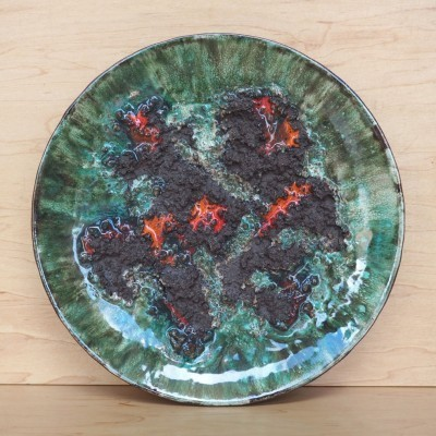 Ceramic Plate from the sixties by unknown designer for Glit Iceland