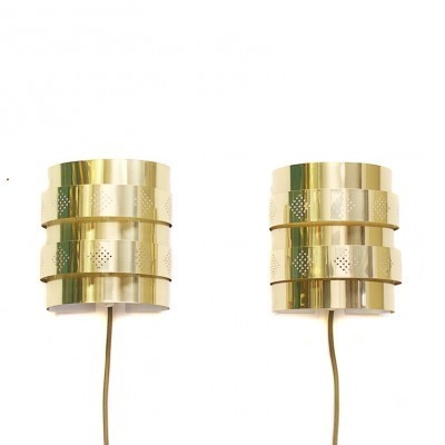 Set of 2 wall lamps from the sixties by Werner Schou for Coronell Elektro Denmark