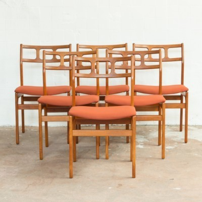Set of 6 dinner chairs from the sixties by Johannes Andersen for unknown producer