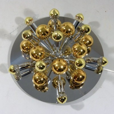 Two-tone Sputnik wall lamp from the sixties by unknown designer for Cosack