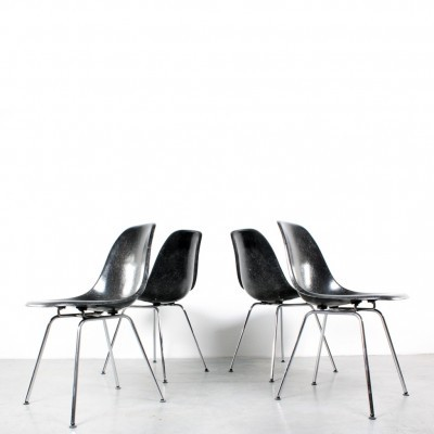 Set of 4 DSX dinner chairs by Charles & Ray Eames for Herman Miller, 1960s