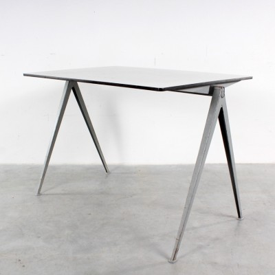 2 Pyramid dining tables from the sixties by Wim Rietveld for Ahrend de Cirkel