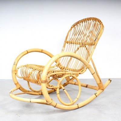 Rohé Noordwolde rocking chair, 1950s