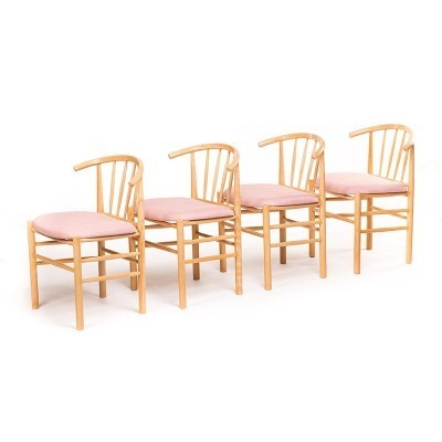 Set of 4 Spindle Back dinner chairs from the sixties by Erik Ole Jørgensen for unknown producer