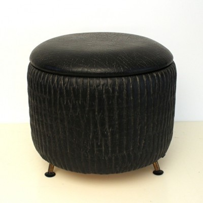 Pouf stool by N S I, 1950s