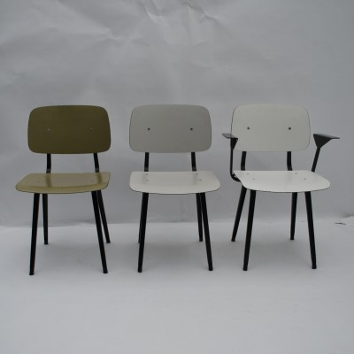 3 Revolt dinner chairs from the fifties by Friso Kramer for Ahrend de Cirkel