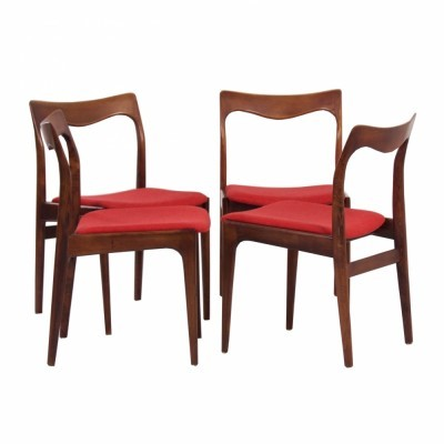 Set of 4 AWA dining chairs, 1950s