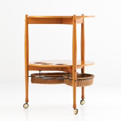 Serving trolley from the fifties by unknown designer for Fratelli Reguitti