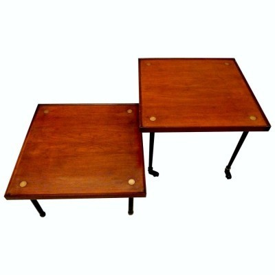 Set of 2 coffee tables from the forties by Melchiorre Bega for KLAN