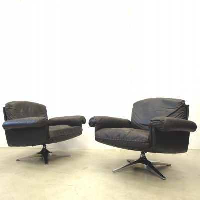 Set of 2 DS31 lounge chairs from the sixties by unknown designer for De Sede