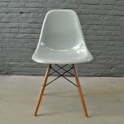 2 x DSW Seafoam Green dinner chair by Charles & Ray Eames for Herman Miller, 1950s