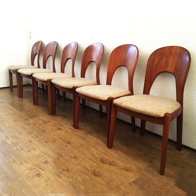 Set of 6 dining chairs by Niels Kofoed for Hornslet Møbelfabrik