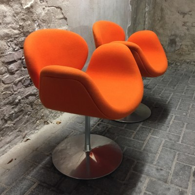 2 Little Tulip dinner chairs from the eighties by Pierre Paulin for Artifort