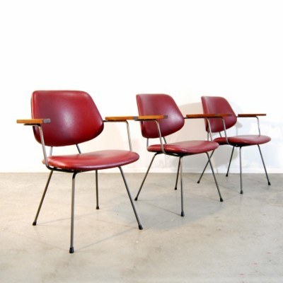 3 dinner chairs from the seventies by unknown designer for Kembo
