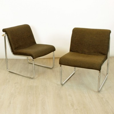 Pair of Miljö Expo lounge chairs, 1980s