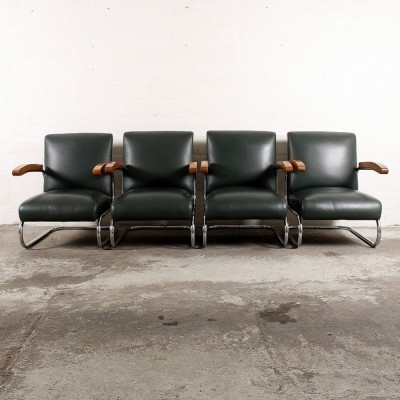 4 S411 lounge chairs by Thonet Design Team for Thonet