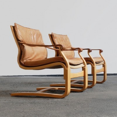 Set of 2 lounge chairs from the seventies by Ake Fribytter for Nelo