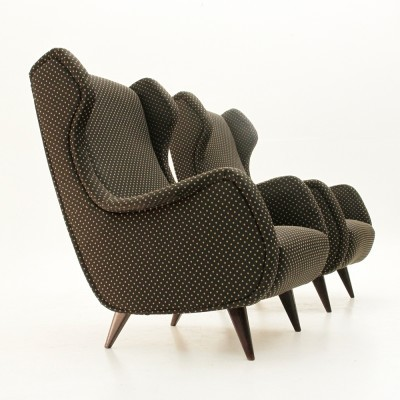 Set of 2 arm chairs from the sixties by unknown designer for unknown producer