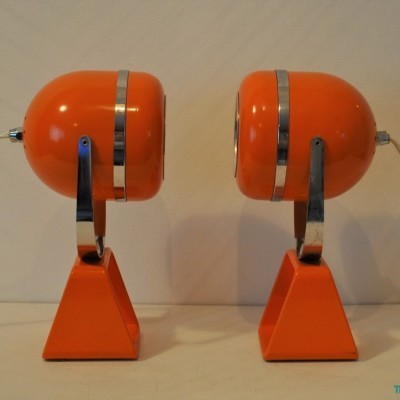2 desk lamps from the sixties by unknown designer for unknown producer