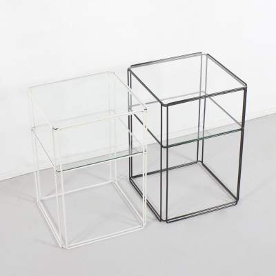 Set of 2 Isocele side tables from the seventies by Max Sauze for unknown producer