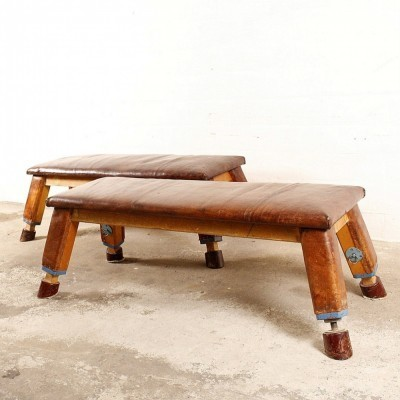 2 benches from the thirties by unknown designer for unknown producer
