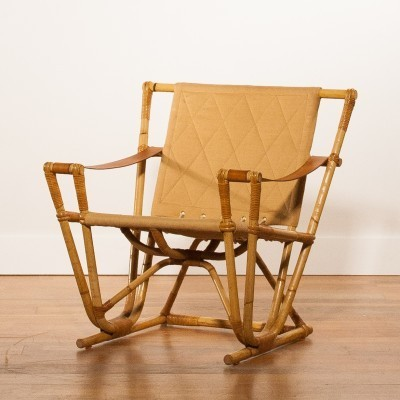Rattan lounge chair from the fifties by unknown designer for unknown producer