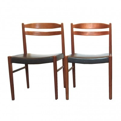 Set of 5 dinner chairs from the fifties by Carl Ekström for Johannson & Söner