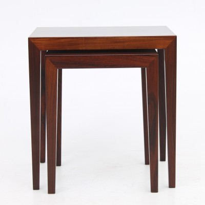 Set of 2 Lamp tables side tables from the sixties by Severin Hansen for Haslev