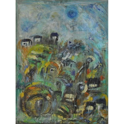 Oil Painting art from the nineties by Mette Birckner for unknown producer