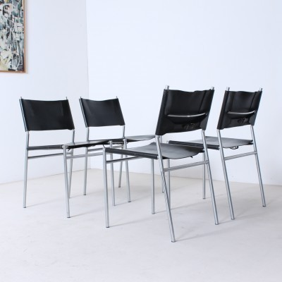 Set of 4 Se06 dinner chairs from the sixties by Martin Visser for Spectrum