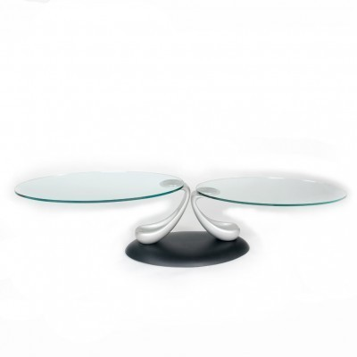 Papillon Extension coffee table from the eighties by Arnaldo Gamba & Leila Guerra for Naos