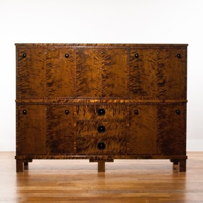 Art Deco Zebrano sideboard from the twenties by unknown designer for unknown producer