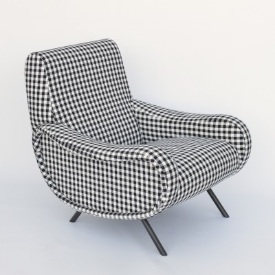 Lady arm chair from the forties by Marco Zanuso for Cassina