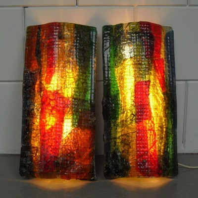 Set of 2 wall lamps from the sixties by unknown designer for Tetterode Amsterdam
