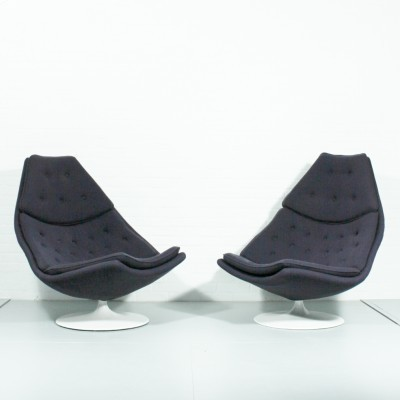 Pair of F588 lounge chairs by Geoffrey Harcourt for Artifort, 1960s