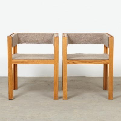 Set of 2 arm chairs from the nineties by Yusuf Kho for Houtwerk Hattem