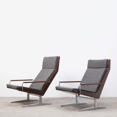 Set of 2 Lotus Series lounge chairs from the sixties by Rob Parry for Gelderland