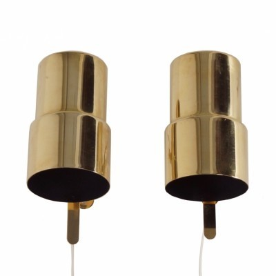 Set of 2 wall lamps from the sixties by Hans Agne Jakobsson for AB Markaryd