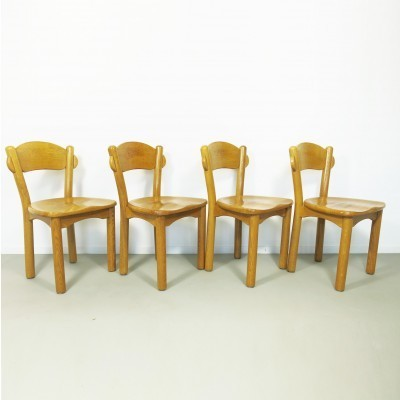Set of 4 dinner chairs from the seventies by Rainer Daumille for Hirtshal Sawmill