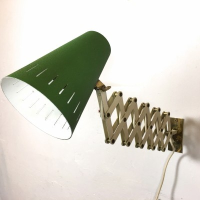 Scissor wall lamp from the sixties by unknown designer for unknown producer