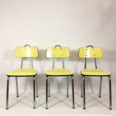 Set of 3 dinner chairs from the sixties by unknown designer for unknown producer