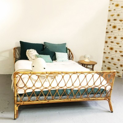 Bed from the sixties by unknown designer for unknown producer