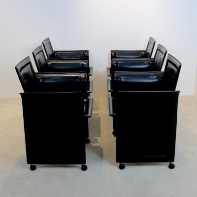 Set of 6 dinner chairs from the seventies by unknown designer for Matteo Grassi