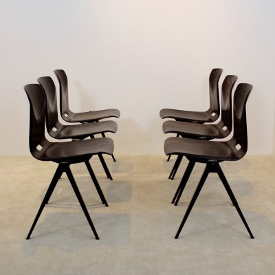 12 S22 dinner chairs from the sixties by unknown designer for Galvanitas